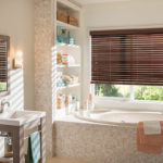 Faux Wood Blinds Bathroom