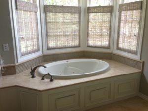 Bathroom Woven Wood Shades